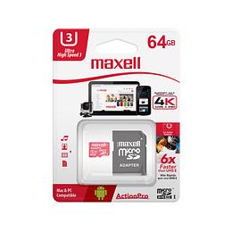 Maxell Memoria Micro SD 64Gb Action Pro