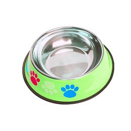 Tazón Para Mascotas Estampado Huellitas 15 Cms +Cotas Club