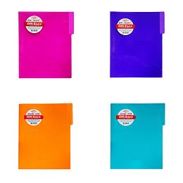 Carpeta Legajadora Plástica Carta Colores Candy