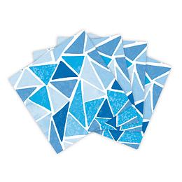 Servilleta Pequeña Triángulos Azules X 16 Unidades