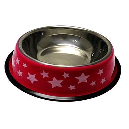 Tazón Para Mascotas Estampado Estrellas 15 Cms +Cotas Club