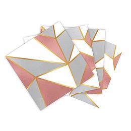 Servilleta Pequeña Geométrico Deluxe X 16 Unidades
