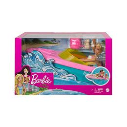 Set Barbie Lancha Y Mascota