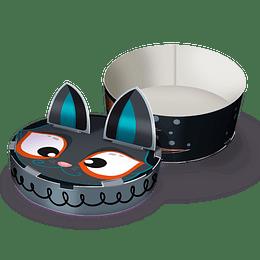 Caja Regalo Ctn Halloween Figura Gato