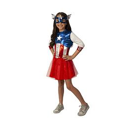 Disfraz de Capitán América Niña