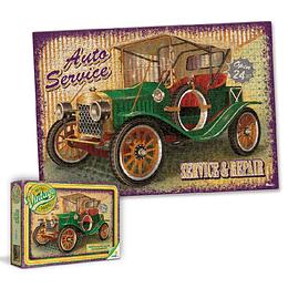 Rompecabezas X 1000 Piezas Retro Vintage Carro