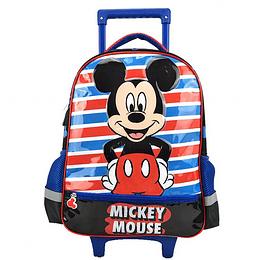 """Morral con Ruedas Mickey Mouse 16.5 """" P. bags"""