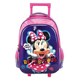 """Morral con Ruedas Minnie Mouse 16.5 """" P. bags"""