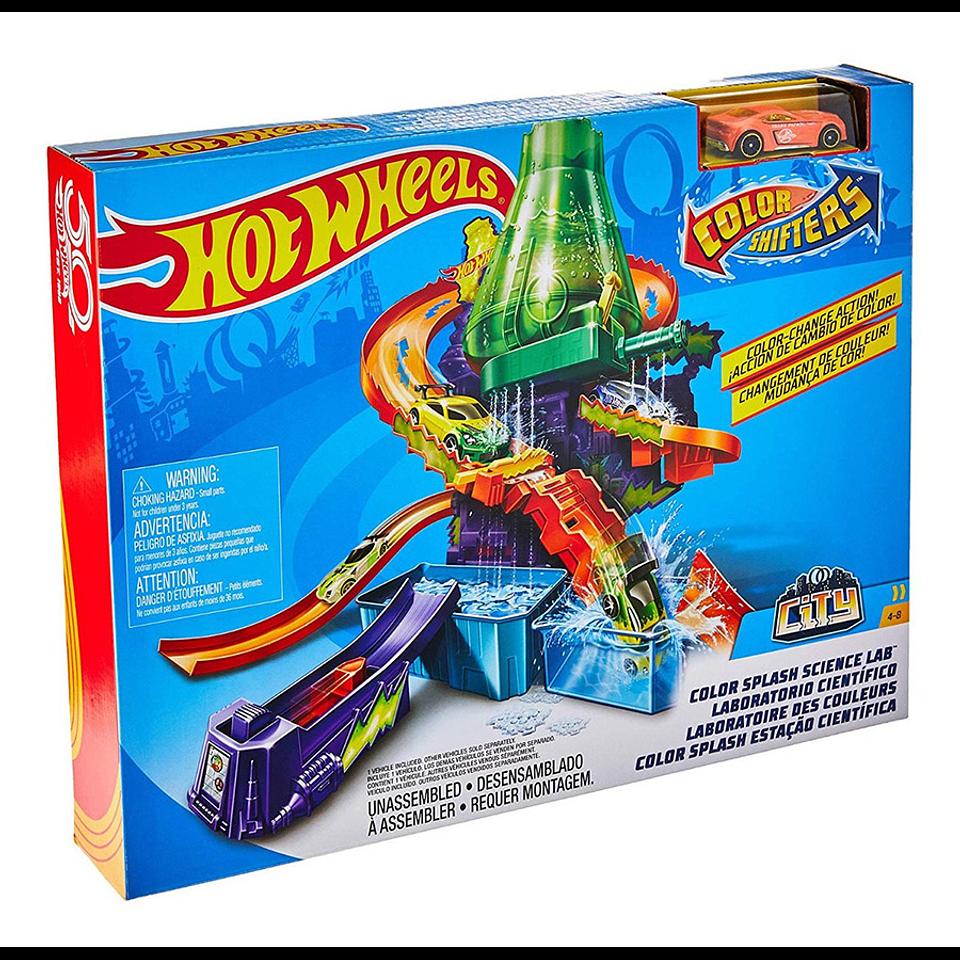 Hot Wheels Laboratorio científico de color