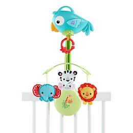 Fisher Price Móvil Para Bebés Azul 3 En 1 Animalitos