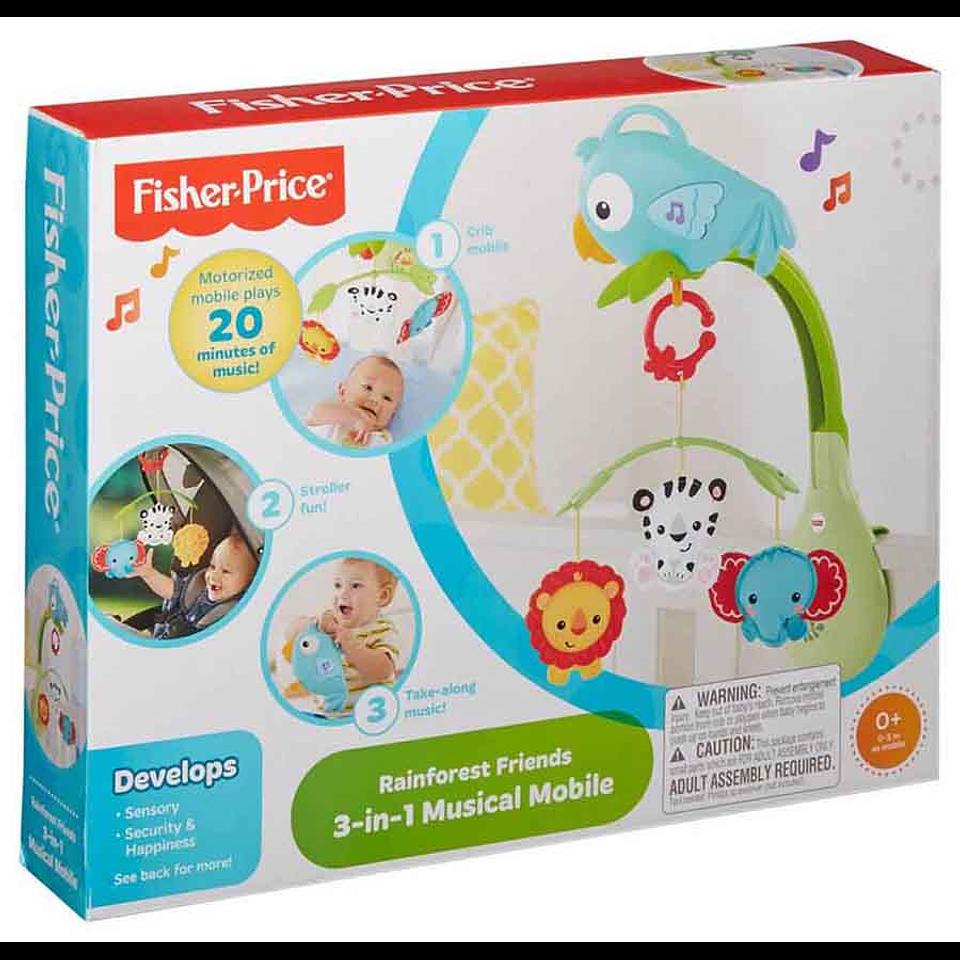 Fisher Price Móvil 3 En 1 Animalitos