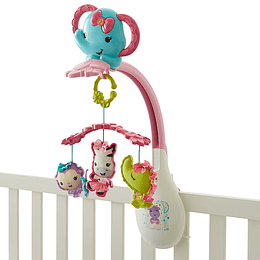 Fisher Price Móvil Para Bebés Rosado 3 En 1 Animalitos