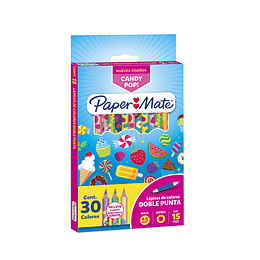 Papermate Color Candy  Doble punta X15/30