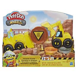 Play Doh Wheels Excavadora Y Cargadora