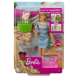 Barbie Baño De Perritos