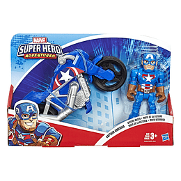 """Marvel Figura Y Moto 5"""" Capitán América"""