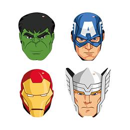 Mascaras De Advengers X 4 Unidades