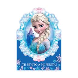Invitacion Con Sobre De Frozen X 8 Uns