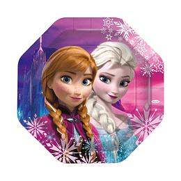 "Bandeja Octagonal Frozen 10"" X 4 Unidades"
