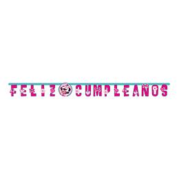 Cartel Letras Feliz Cumpleaños Minnie