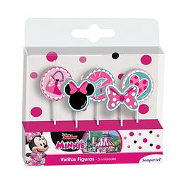 Velita En Figura De Minnie X 5 Unidades