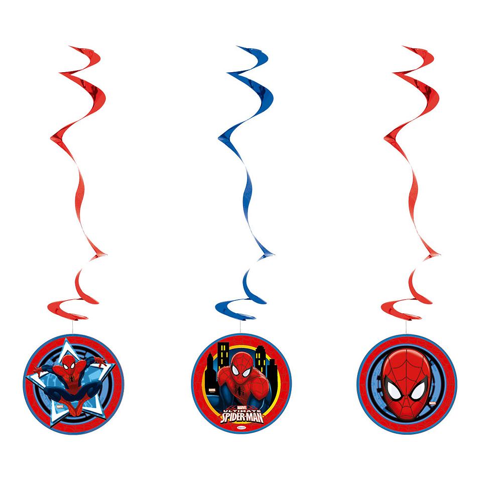 Espirales De Spiderman X 3 Unidades