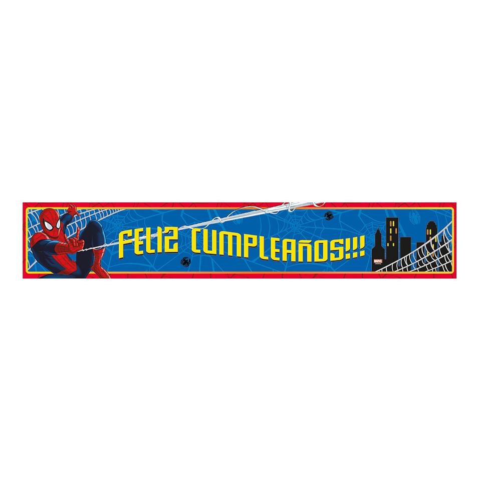 Cartel Metalizado Jumbo De Spiderman