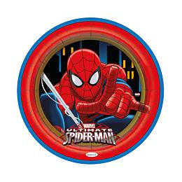 "Plato Redondo De Spiderman 7"" X 8 Unidades"