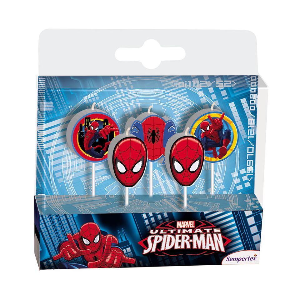 Velita En Figura De Spiderman X 5 Unidades