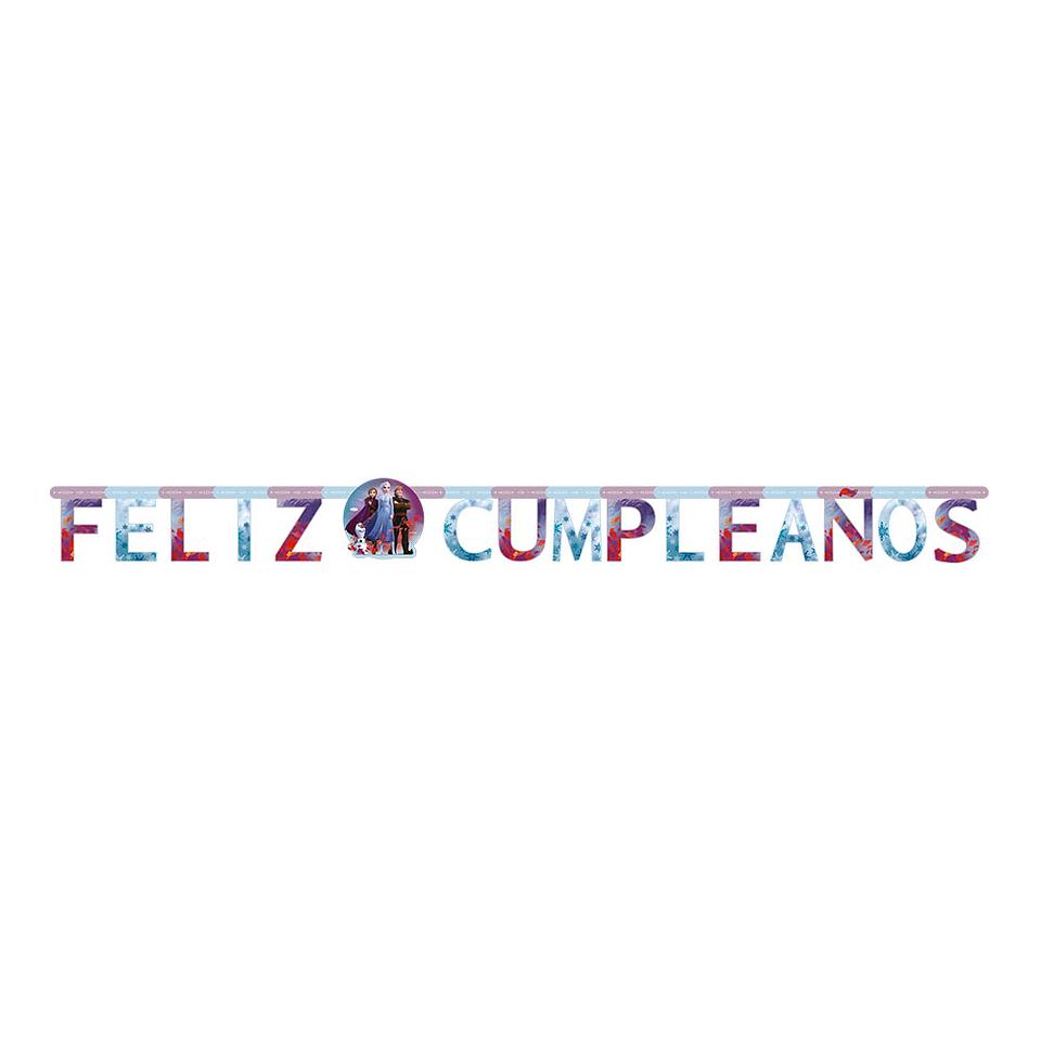 Cartel Letras Feliz Cumpleaños Frozen II