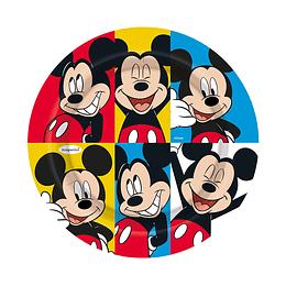 """Plato Redondo De Mickey Face Time 7"""" X 8 Unidades"""