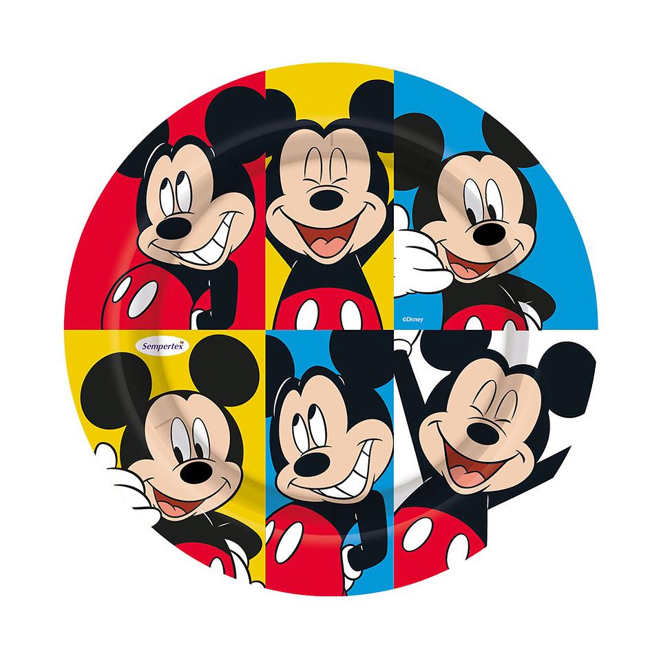 Plato Redondo De Mickey Face Time 7