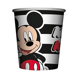 Vaso 9 Onz De Mickey Face Time X 8 Unidades