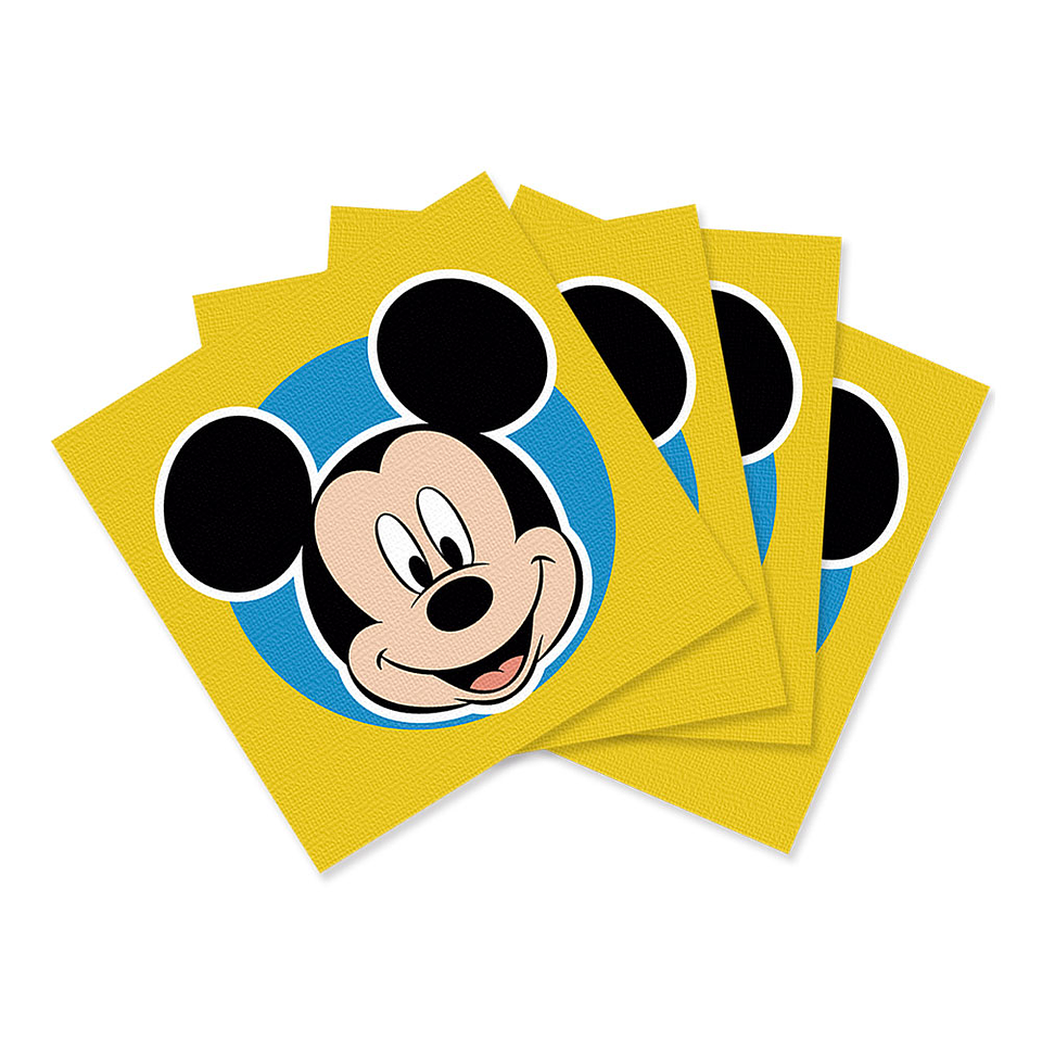 Servilleta Pequeña De Mickey Face Time X 16 Unidades