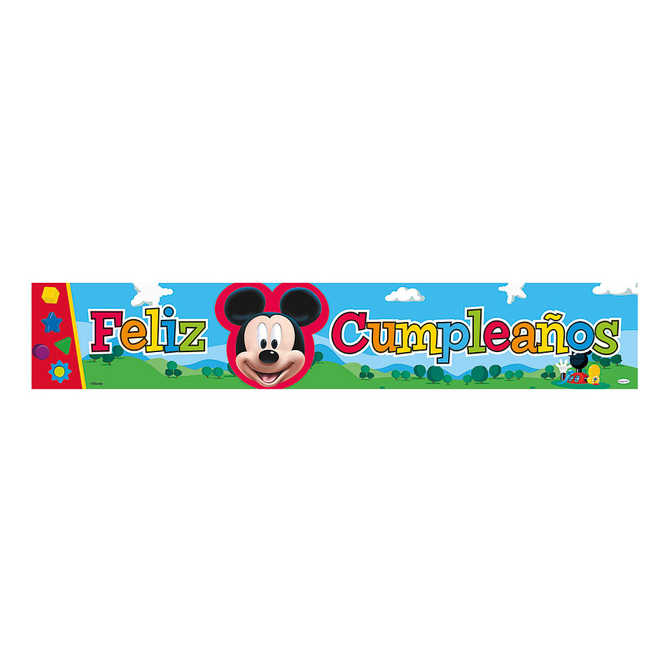 Cartel Metalizado Jumbo De Mickey