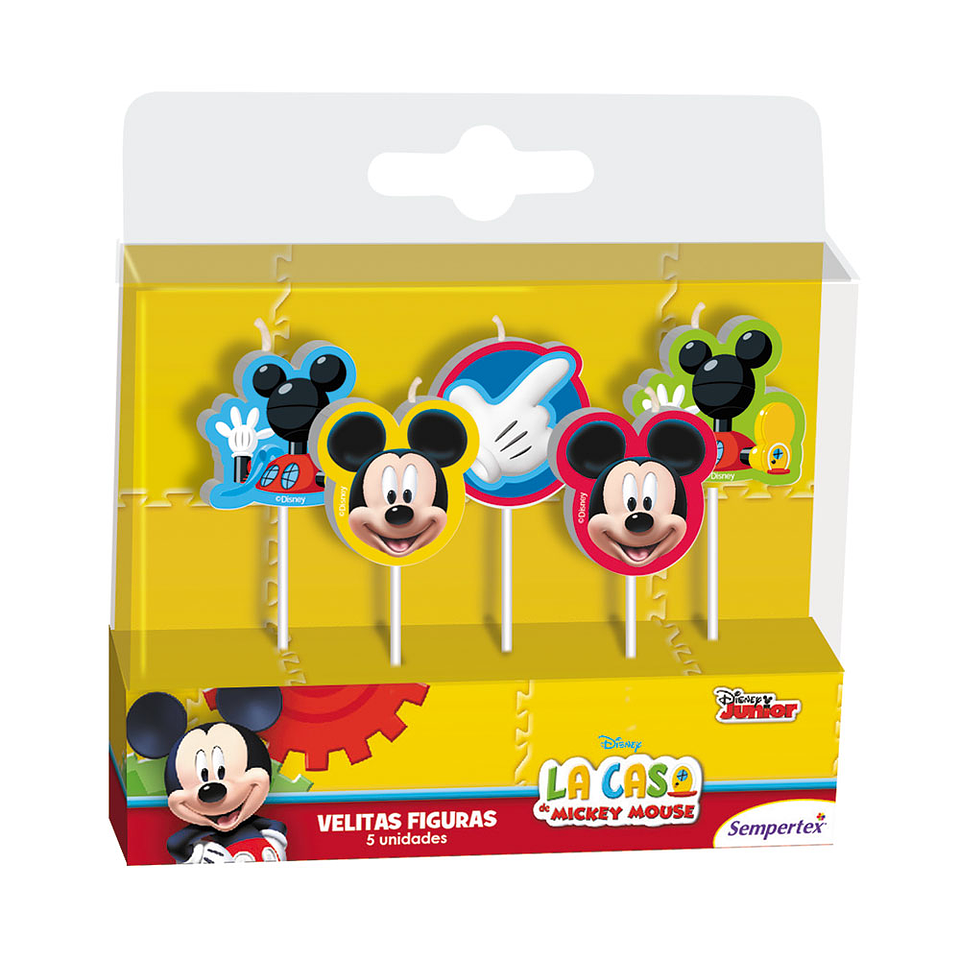 Velita En Figura De Mickey X 5 Unidades