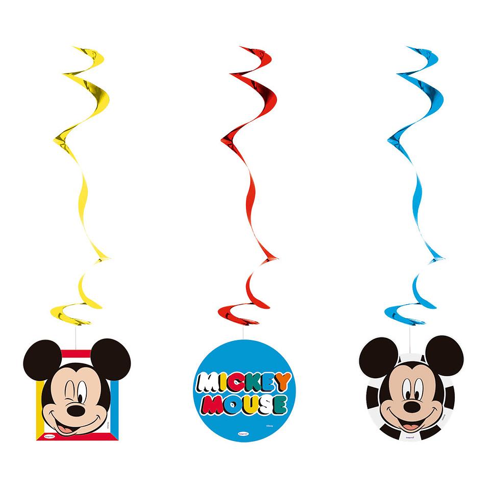 Espirales De Mickey Face Time X 3 Unidades