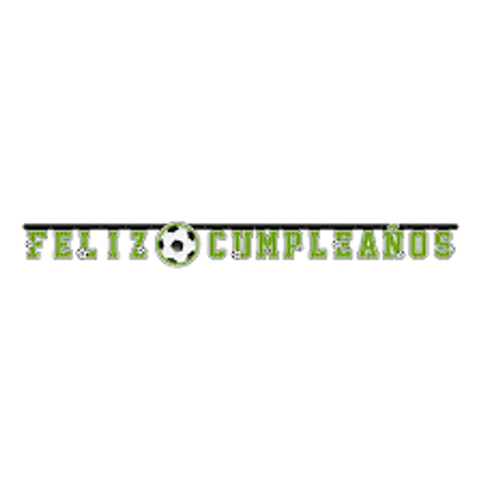 Cartel letras Balón de Fútbol