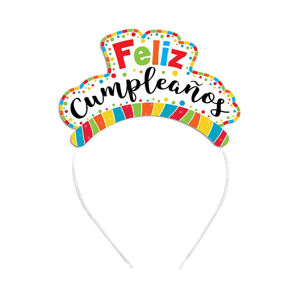 Tiara Feliz Cumpleaños Multicolor