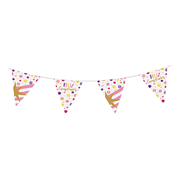 Banderola metalizada Feliz Cumpleaños Destellos