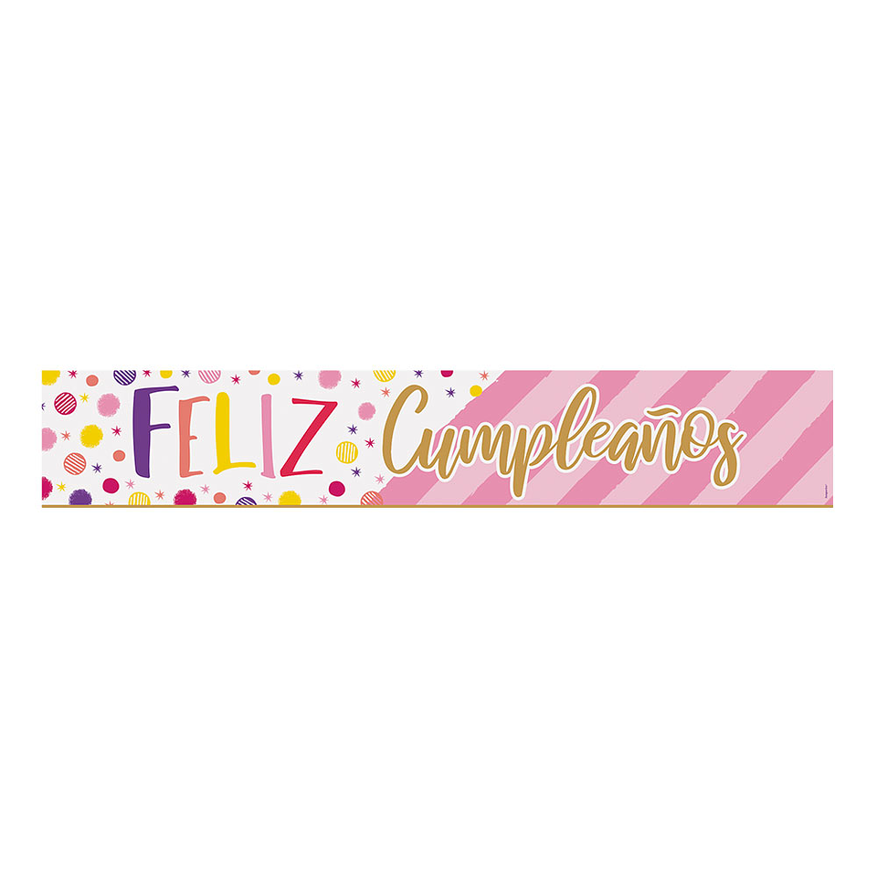Cartel Holográfico jumbo Feliz Cumpleaños Destellos