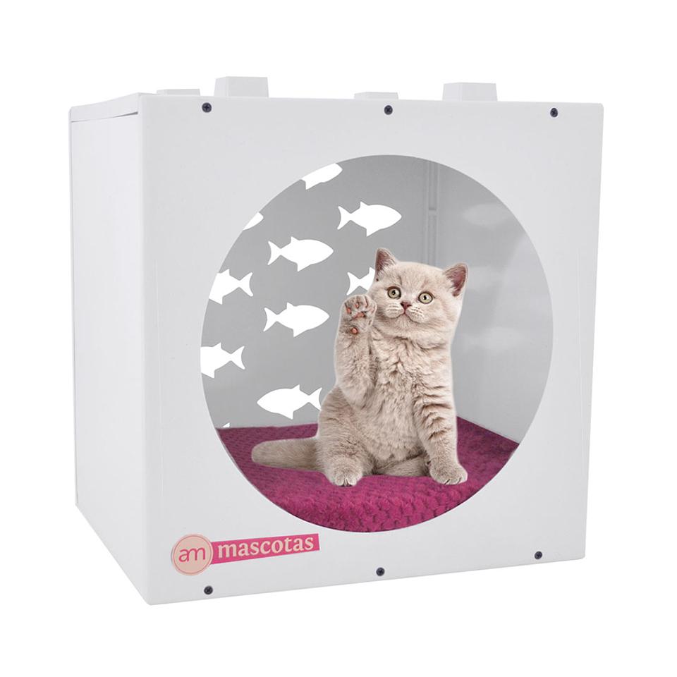 Casa Relax Con Figuras De Peces Para Gato AM