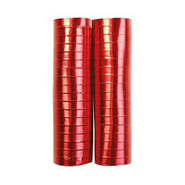 Serpentina Rojo Metalizada