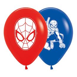 Globo R-12 impreso Spiderman Fashion surtido x 10 unidades