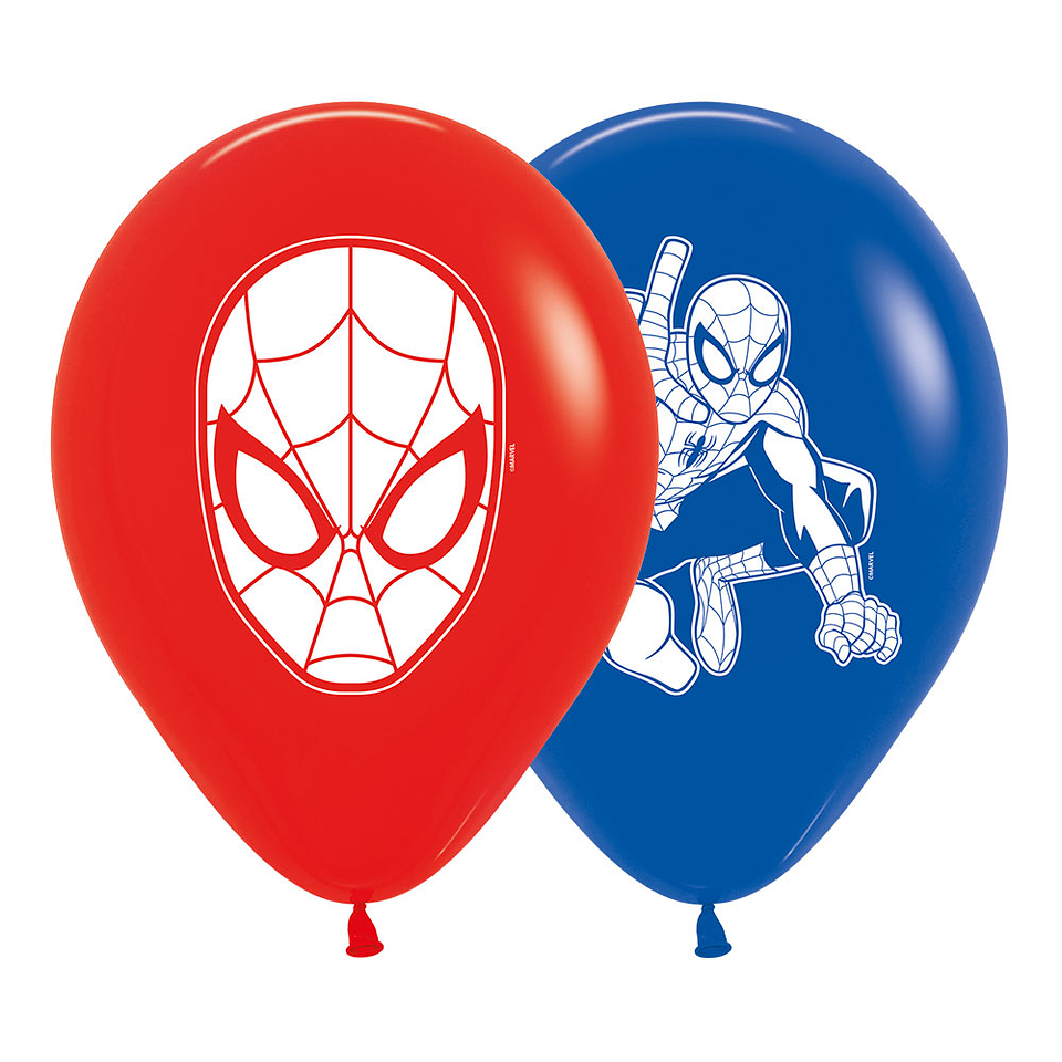 Globo R-12 impreso Spiderman Fashion surtido x 10 unidades
