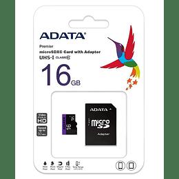 Memoria micro SD 16GB Adata