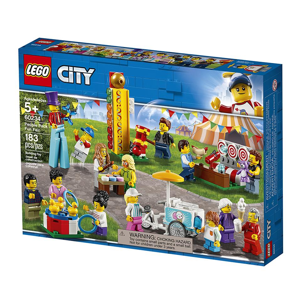 Lego City Set Minifiguras De Feria