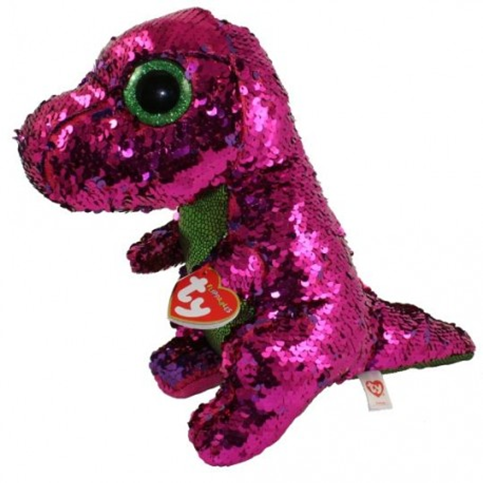 Peluches Ty Flippables Stompy Dinosaurio Pink/Gr