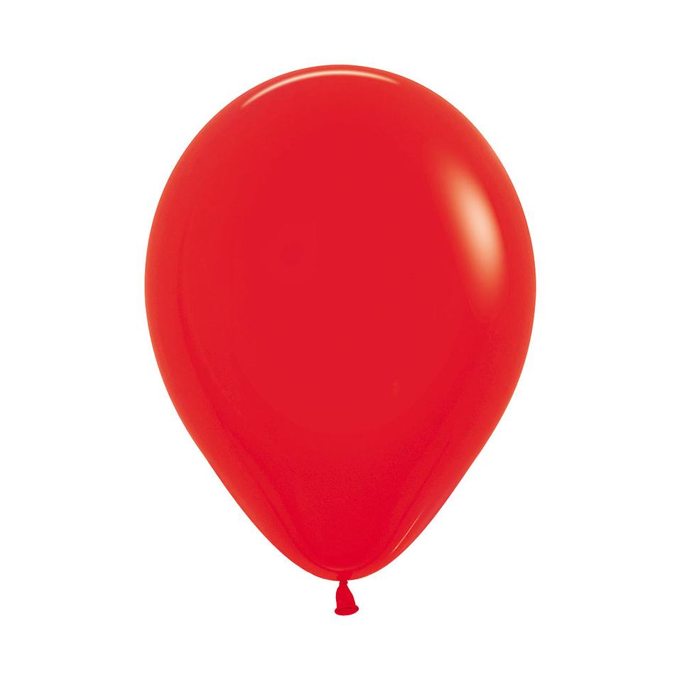 Globo Fashion Rojo x 12 unidades