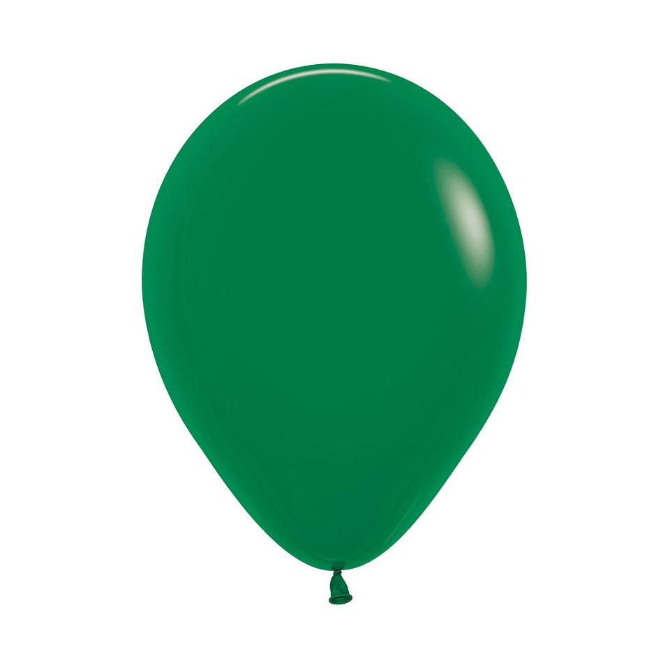 Globo Fashion Verde Selva x 12 unidades